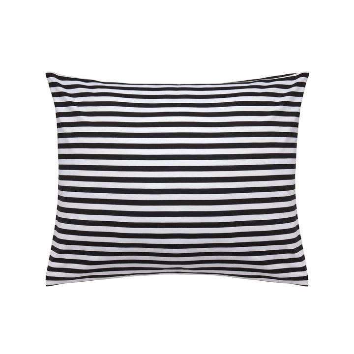 Taie d'oreiller Tasaraita 50 x 60 cm de Marimekko en noir / blanc