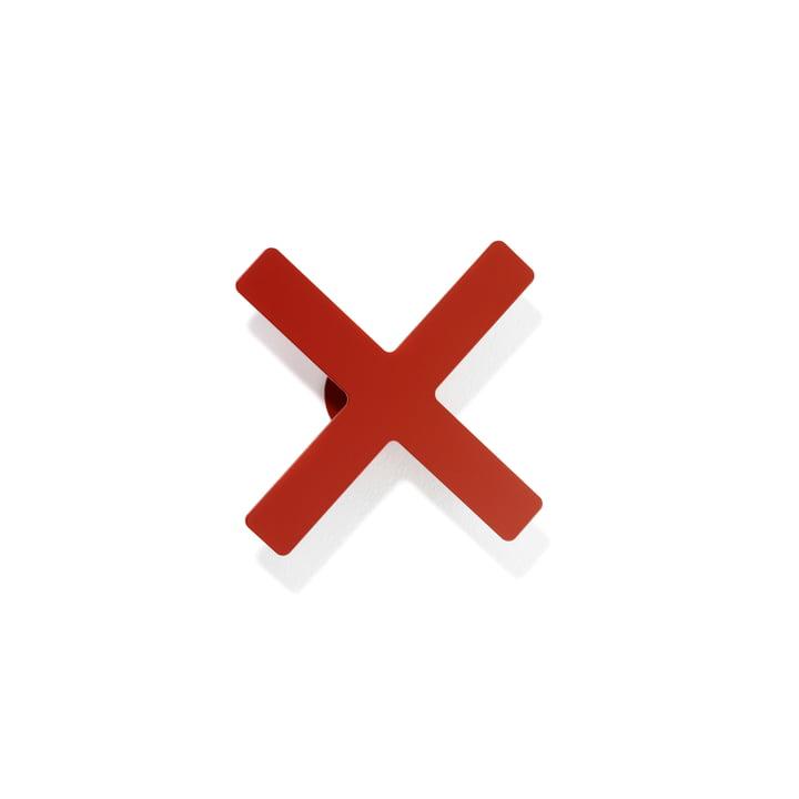 Patère X de Schönbuch en rouge cerise