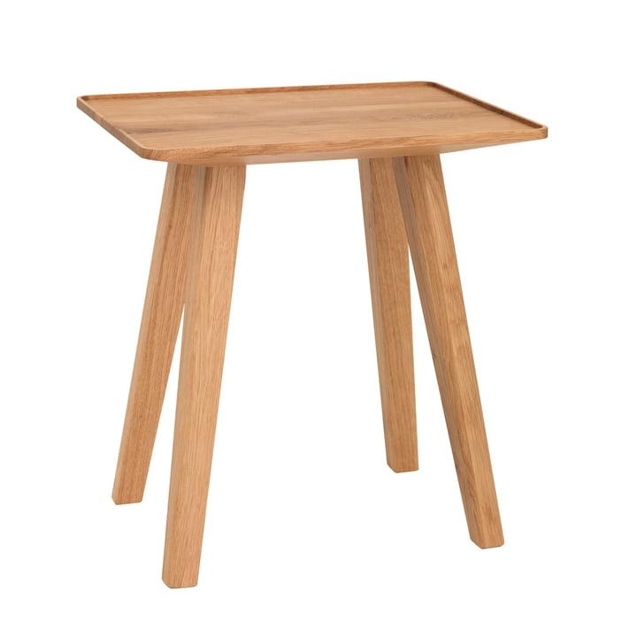 Tabouret et table d'appoint Nini de Schönbuch en bois de chêne naturel huilé