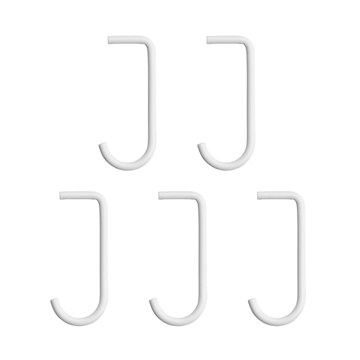 crochet par lot de 5 pour fond de ficelle métallique en blanc