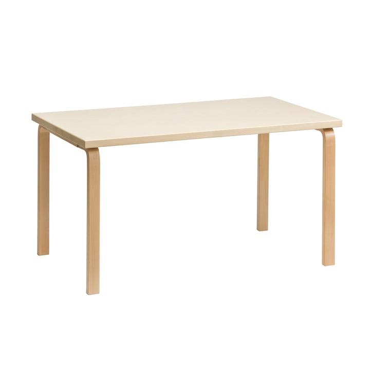 Table 80B 100x60cm d'Artek en bouleau
