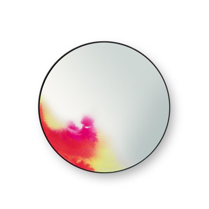 Petit miroir mural Francis de Petite Friture en rose / jaune