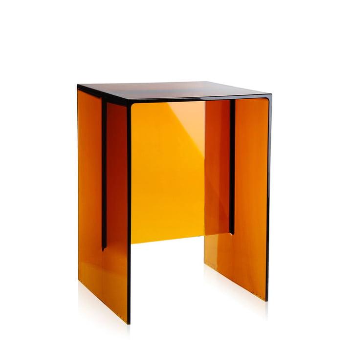 Kartell - Tabouret et table d'appoint Max-Beam, ambre