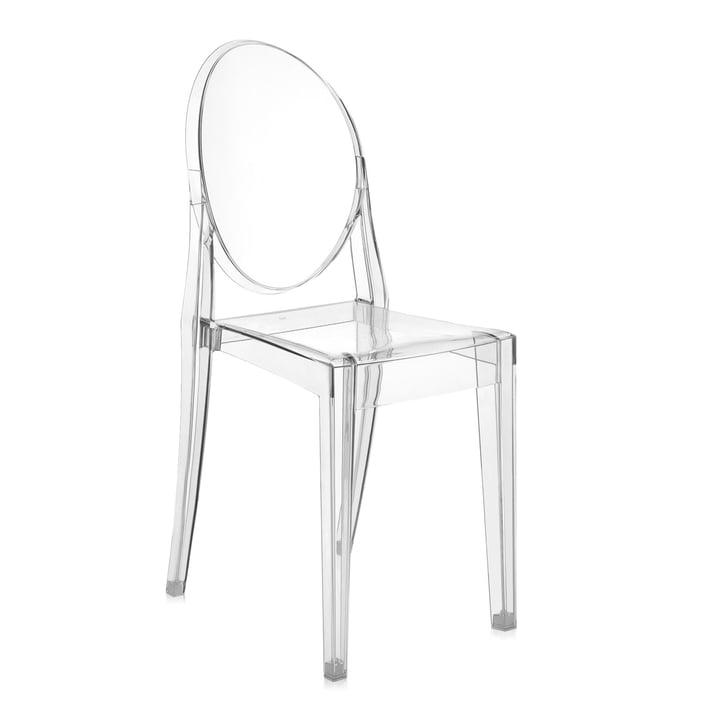 Kartell - Chaise Victoria Ghost, cristal / transparent