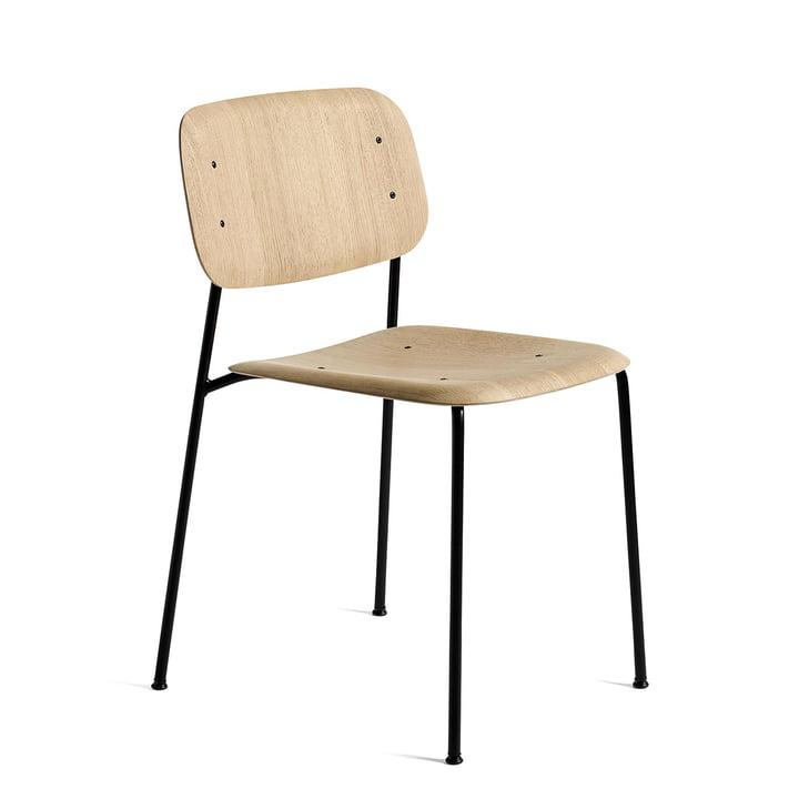 Soft Edge 10 Chaise de Hay en chêne laqué mat / acier thermolaqué noir