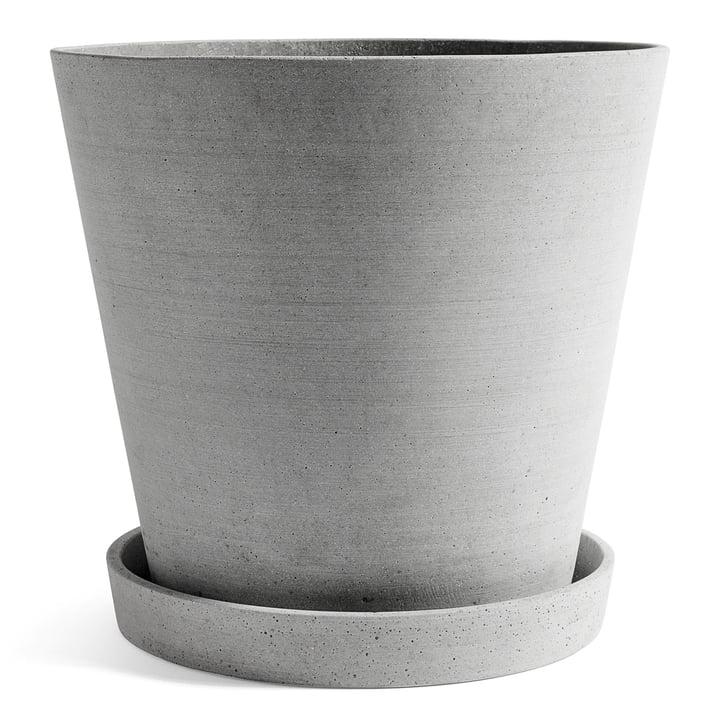 Hay - pot de fleur avec soucoupe XXXL, par Hay, en gris