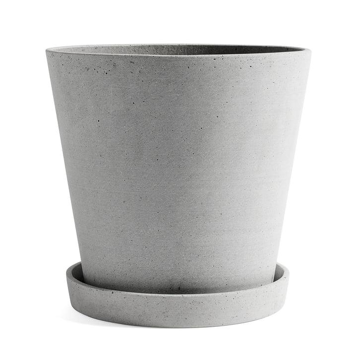 Hay - pot de fleur avec soucoupe XXL, par Hay, en gris