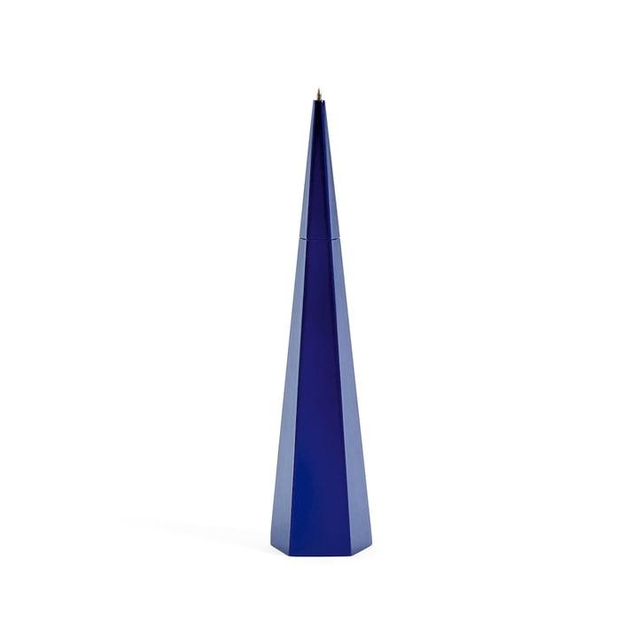 Stylo vertical d'Areaware en bleu et pentagone