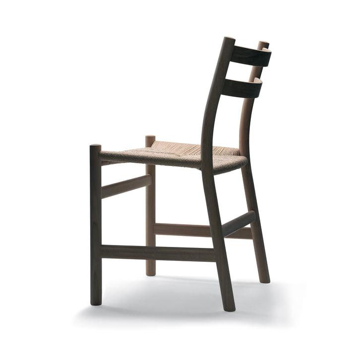 The Carl Hansen - Chaise CH47 en chêne savonné avec vannerie naturelle