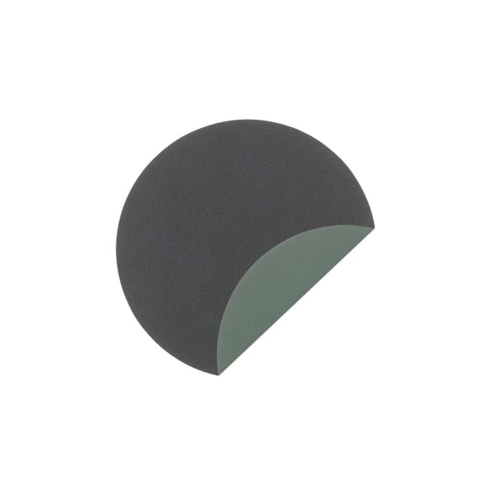 Verre Mat Circle Double Coaster Ø 10 cm de LindDNA en Nuage Anthracite / Nupo Vert Pastel (2 mm)