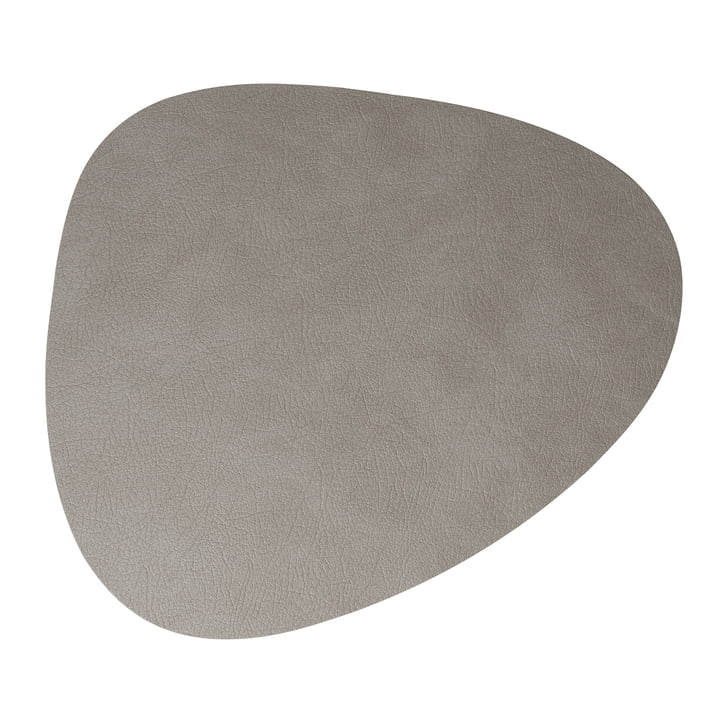 Dessous-de-plat Hot Mat Curve 28 x 34 cm de LindDNA en gris clair Cloud (3 mm)