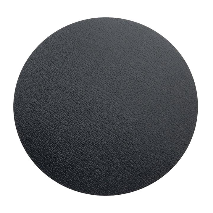 Tapis de sol Circle XXXL Ø 92 cm par LindDNA en noir de taureau