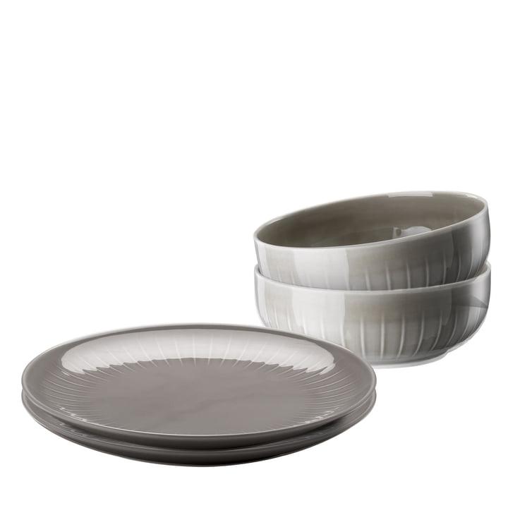 Le service de table Joyn (4pièces) d'Arzberg en gris