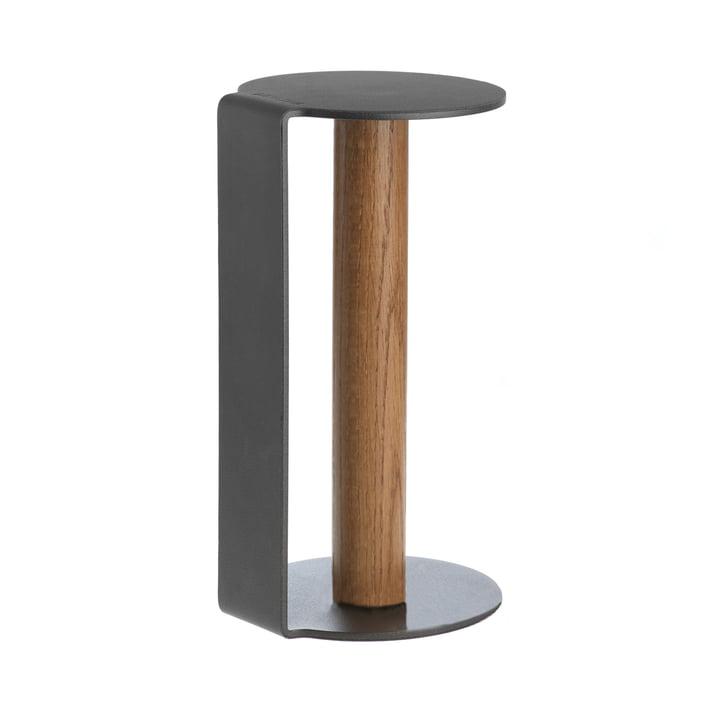 Porte-rouleau de cuisine XL 31 cm de LindDNA en Nupo Anthracite / Aluminium Anthracite