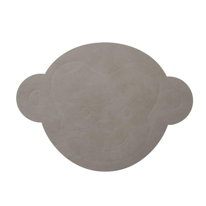 Set de table Singe 38 x 28 cm de LindDNA en gris clair nupo (1,6 mm)