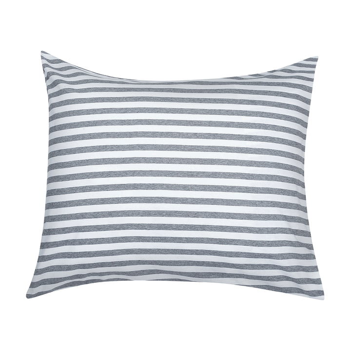 Tasaraita pillow cover 65 x 65 cm by Marimekko in grey / white
