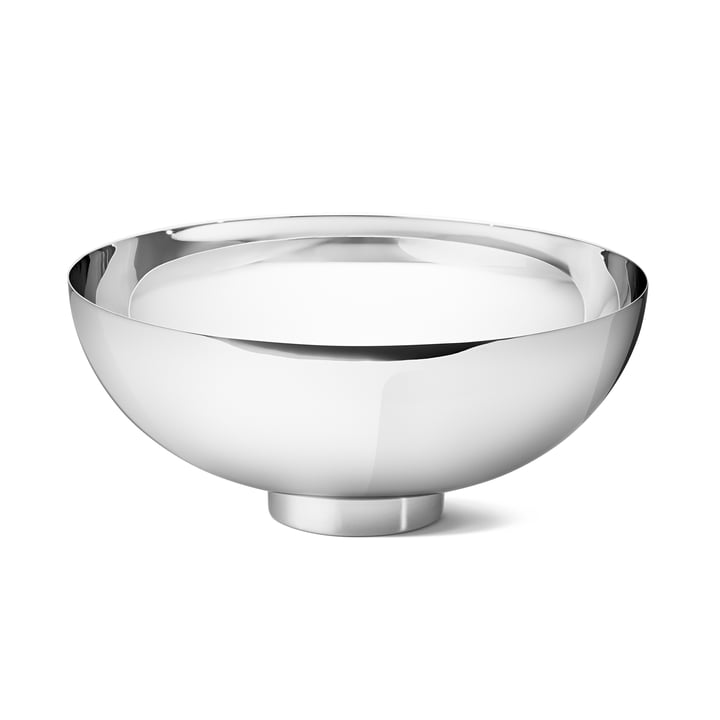 Ilse Grand bol Georg Jensen en acier inoxydable brillant