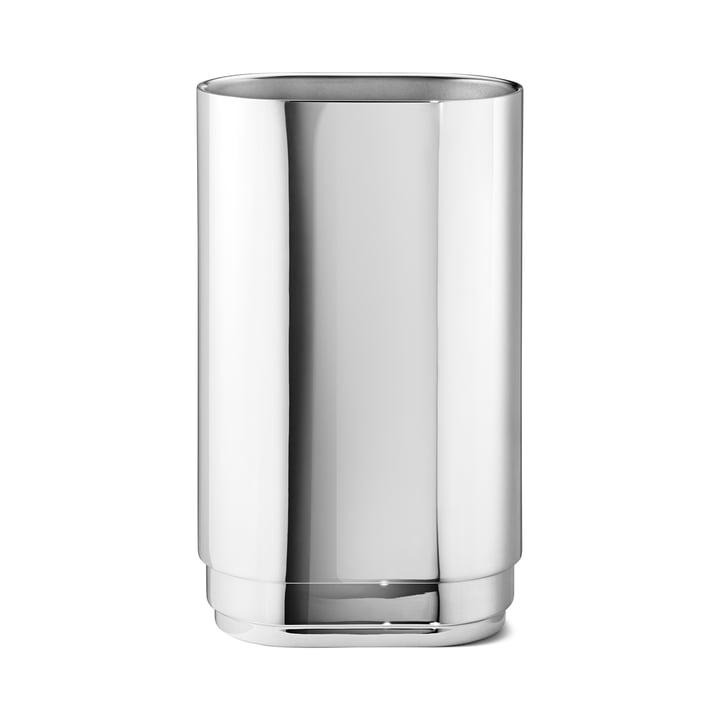 Grand vase Manhattan de Georg Jensen en acier inoxydable