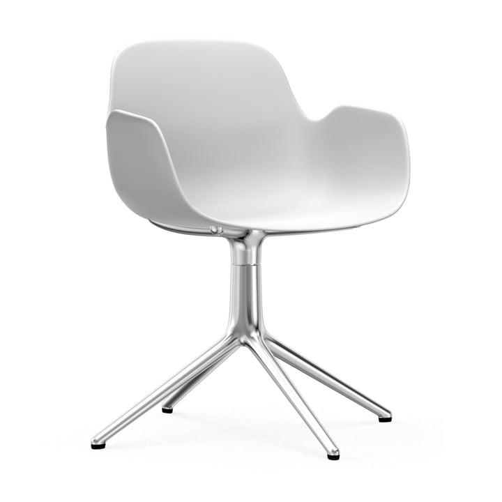 Siège de travail Form de Normann Copenhagen en aluminium / blanc