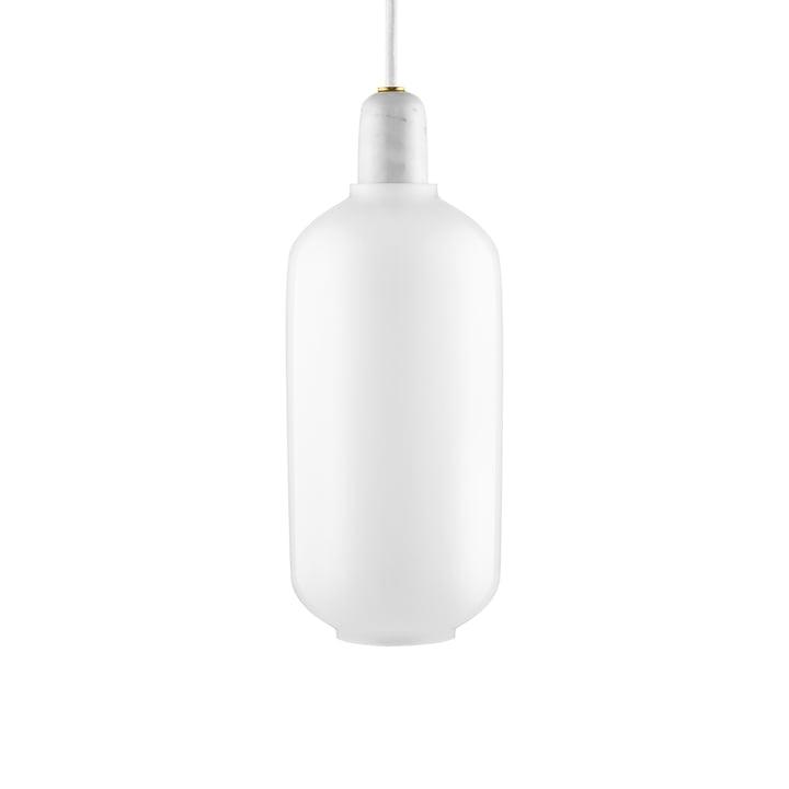 Lampe à suspension grande de Normann Copenhagen en blanc / blanc