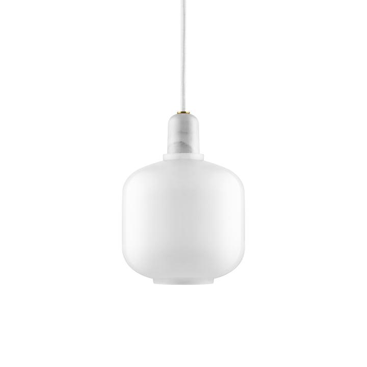 Lampe à suspension petite de Normann Copenhagen en blanc / blanc