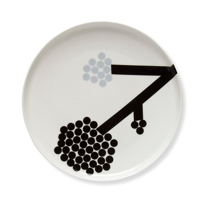 Assiette Hortensia Ø 25 cm de Marimekko en noir / blanc / gris