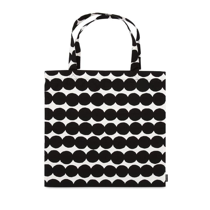 Sac shopping Räsymatto de Marimekko en noir / blanc
