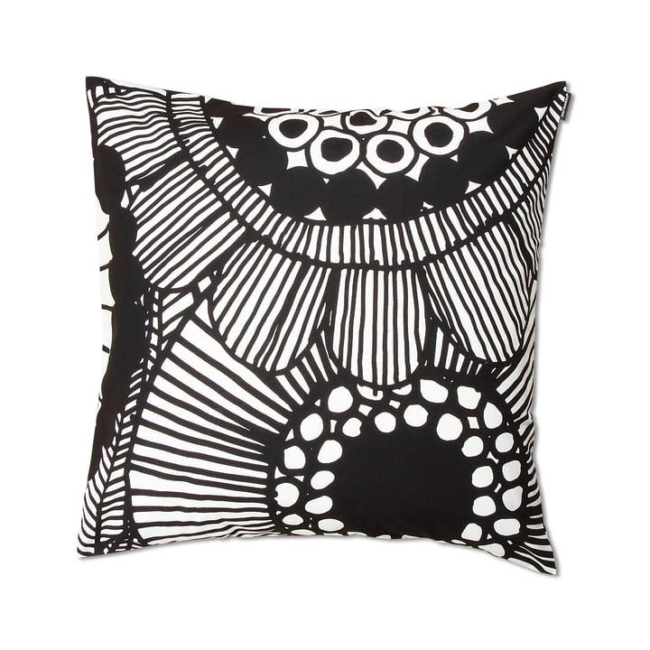 Siirtolapuutarha coussin Siirtolapuutarha 50 x 50 cm par Marimekko en noir et blanc