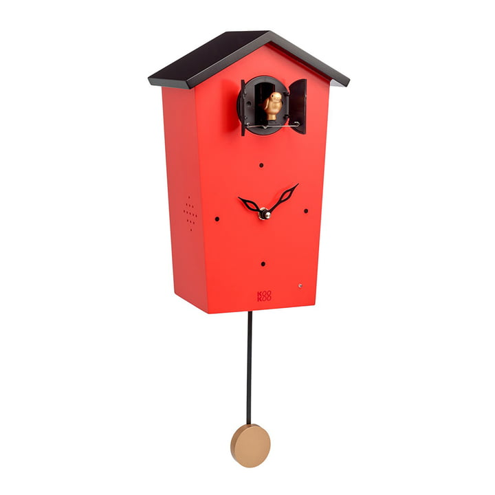 KooKoo - horloge coucou Bird House, rouge (édition limitée)