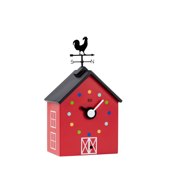 KooKoo - Petite horloge murale RedBarn animaux de ferme