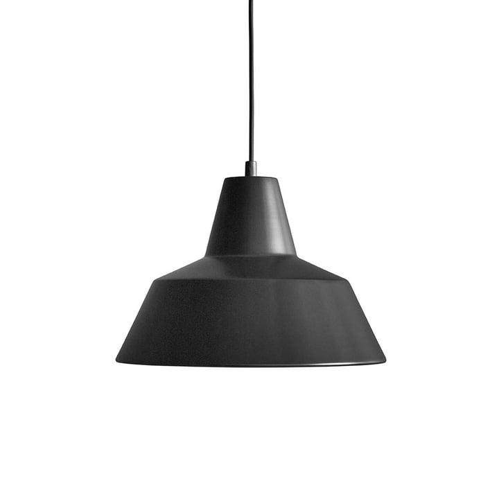 Lampe d'atelier W3 by Made by Hand en noir mat / noir