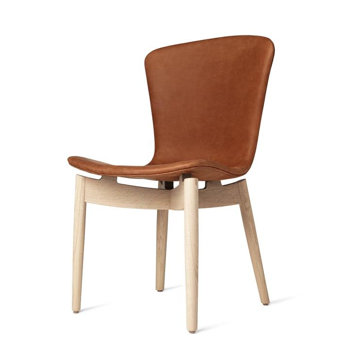 Shell Dining Chair par Mater en chêne laqué mat / cuir Dunes Rust