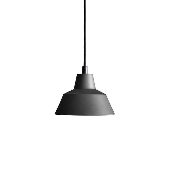 The Made by Hand - Lampe d'atelier W1 en noir anthracite / noir