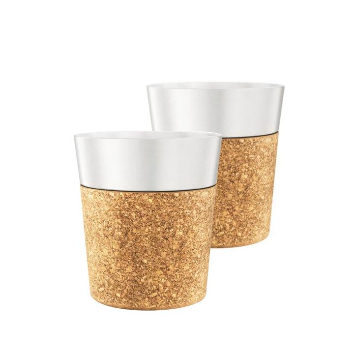 Tasse espresso Bistro 0,17l, porcelaine / liège (lot de2) par Bodum