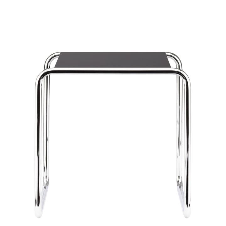 Table gigogne B 9 a de Thonet en chrome / laque de finition en noir profond (RAL 9005)