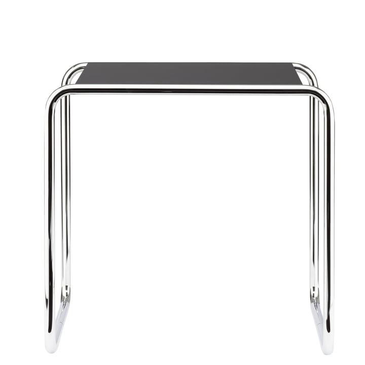 Table gigogne B 9 b de Thonet en chrome / laque de finition en noir profond (RAL 9005)