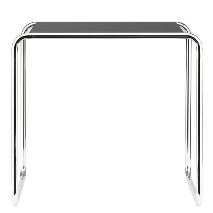 Table gigogne B 9 c de Thonet en chrome / laque de finition en noir profond (RAL 9005)