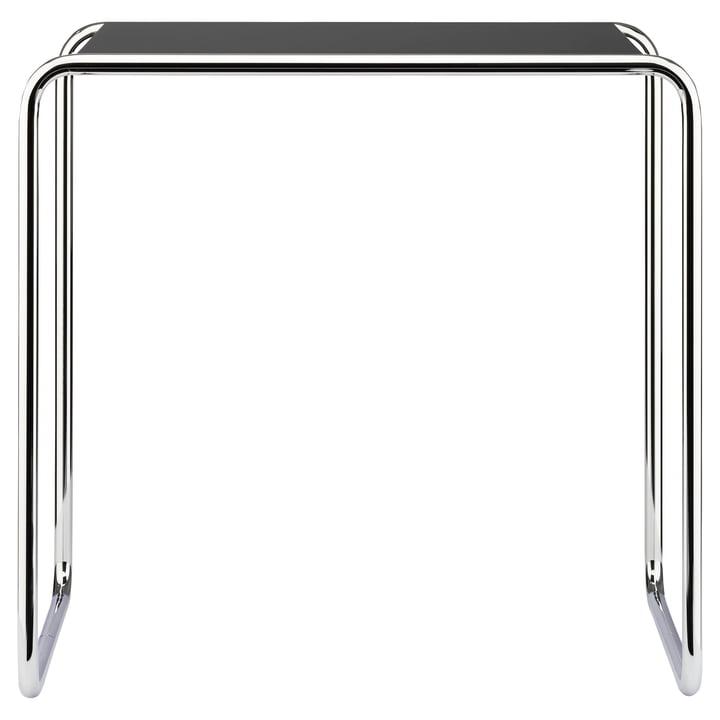 Table gigogne B 9 d de Thonet en chrome / laque de finition en noir profond (RAL 9005)