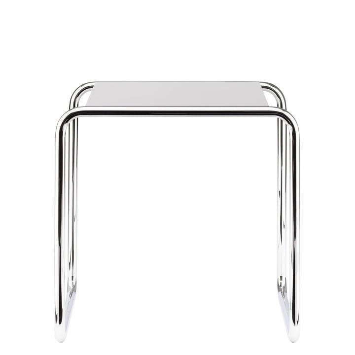 Table gigogne B 9 de Thonet en chrome / laque de finition en blanc pur (RAL 9010)