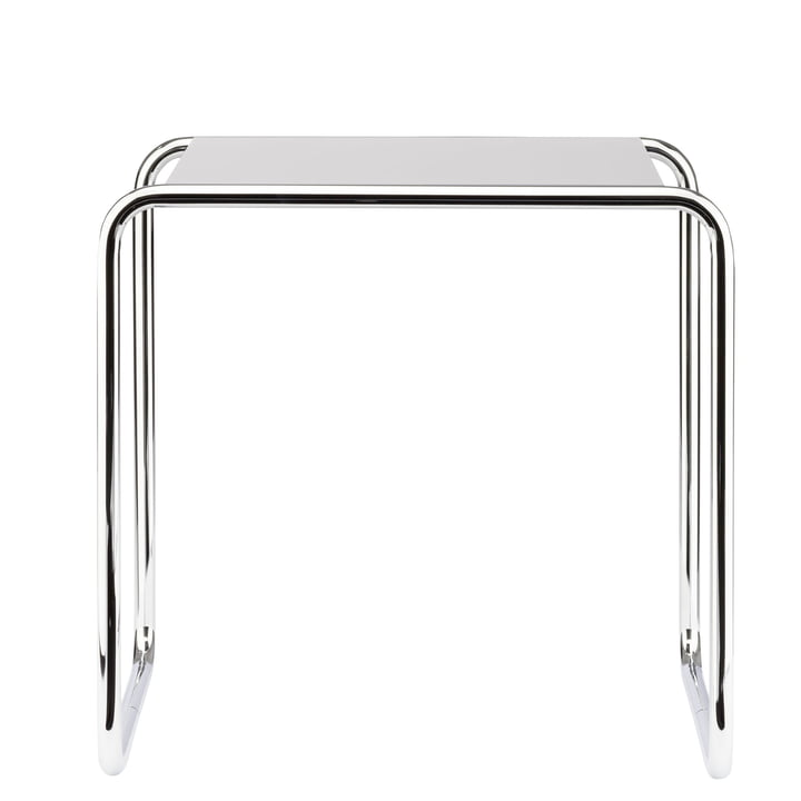 Table gigogne B 9 b de Thonet en chrome / laque de finition en blanc pur (RAL 9010)