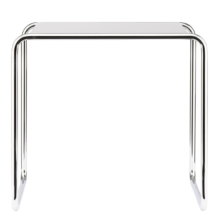 Table gigogne B 9 c de Thonet en chrome / laque de finition en blanc pur (RAL 9010)