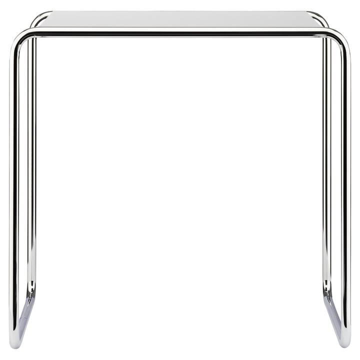 Table gigogne B 9 d de Thonet en chrome / laque de finition en blanc pur (RAL 9010)