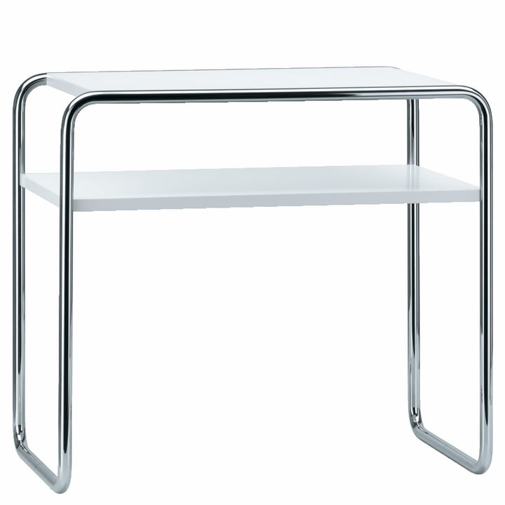 Thonet - Set de table gigogne B 9 d/1, chrome / laque de finition en blanc pur (RAL 9010)