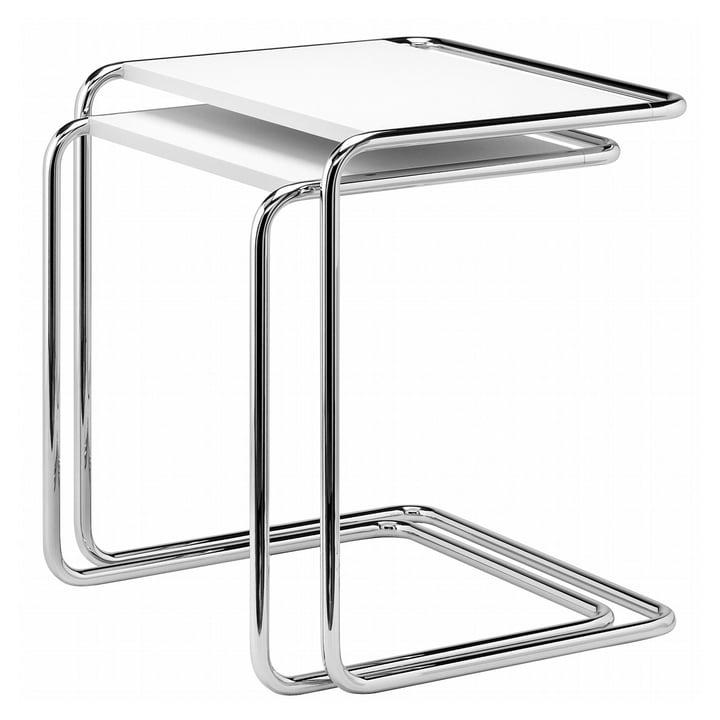 B 97 Table Thonet en chrome / couche de finition blanc pur (RAL 9010)
