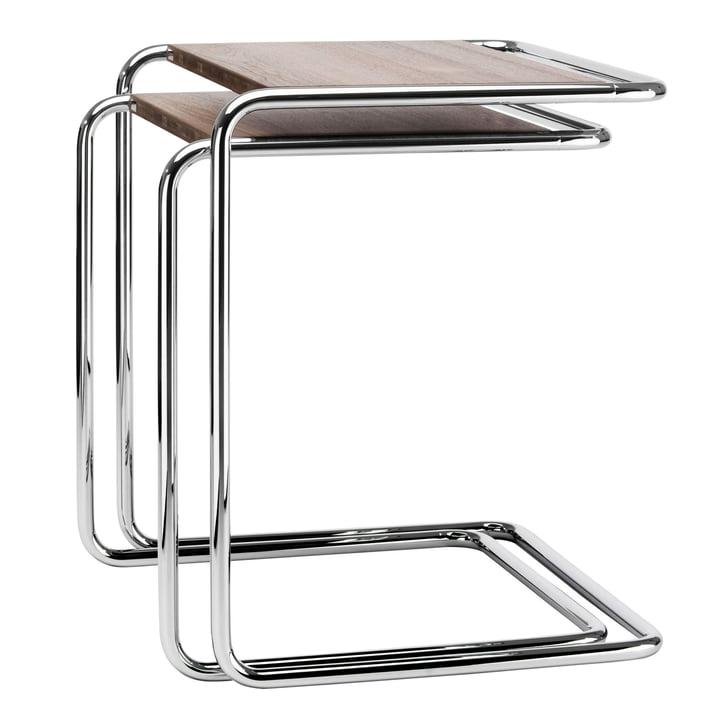 B 97 Ensemble de tables Thonet en chrome / noyer huilé (Pure Materials)