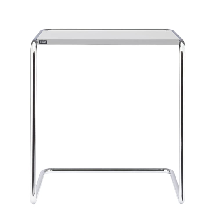 B 97 une table de jeu Thonet en chrome / top coat blanc pur (RAL 9010)