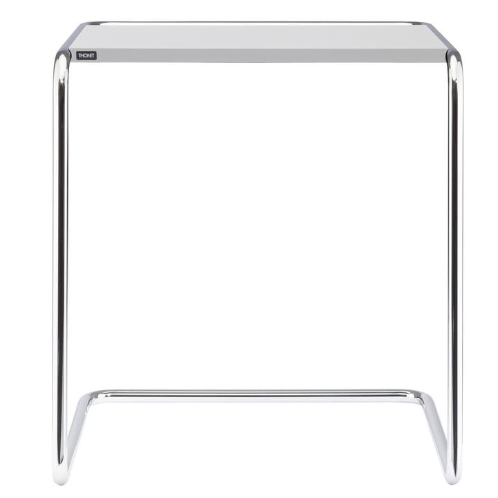 B 97 b Table de jeu Thonet en chrome / couche de finition blanc pur (RAL 9010)