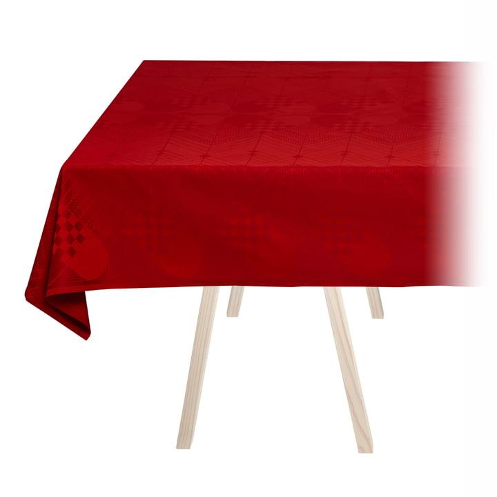 Nappe de Noël de Georg Jensen Damask en rouge foncé