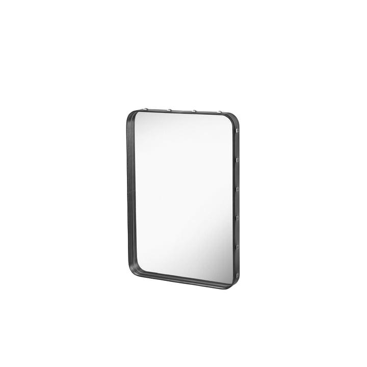 Miroir Adnet 70x48cm par Gubi en noir