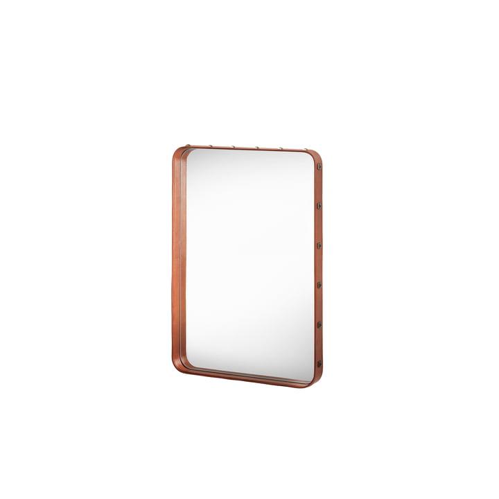 Miroir Adnet 70x48cm par Gubi en marron